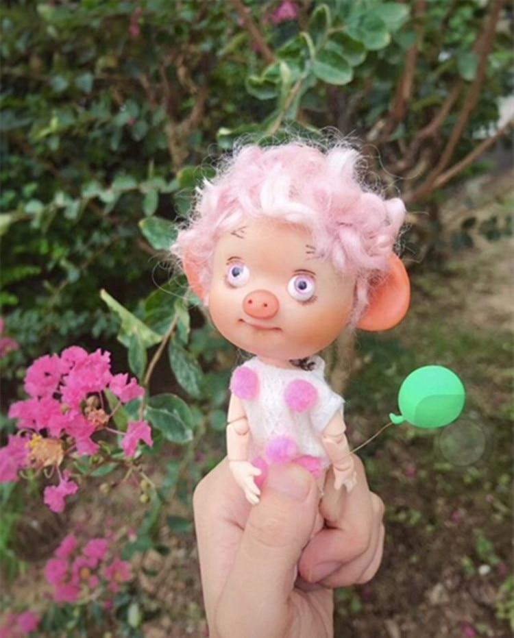 BJD mini cerdo regalo hecho a mano juguete multi-articulación cuerpo - Muñecas y accesorios - foto 3