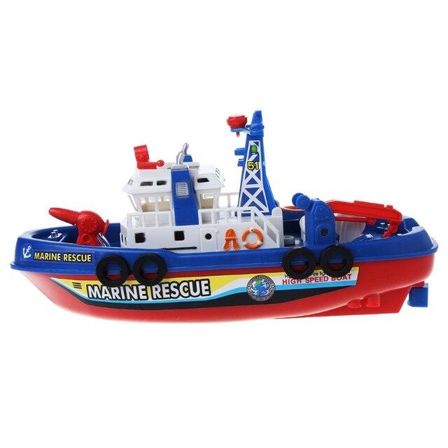 Bateau électrique enfants sauvetage marin jouets Navigation navire de guerre jouet cadeau danniversaire
