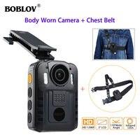 BOBLOV WN9 HD 1296P NT96650 IR Night Vision Body Worn Camera Security Pocket Police Camera Video Recorder&Belt Strap
