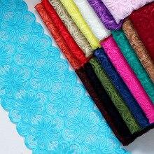 3 ярда 18 см в ширину нейлоновая эластичная кружевная отделка для одежды DIY повязка на голову аксессуары швейная аппликация эластичная французская Сетка кружевная ткань