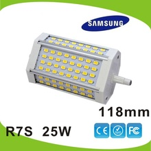 118mm LED R7S light 25W Samsung SMD5630 2600LM J118 lamp 25w replace 250W hogen