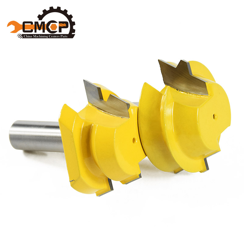CMCP! Woodruff Keyseat Milling Cutters Lock Miter Router 22.5 Degree Glue Joinery Router Bit Set - 1/2 Shank 1 2 5 8 round nose bit for wood slotting milling cutters woodworking router bits