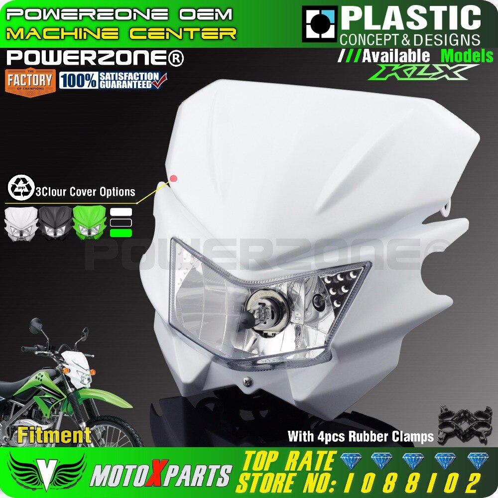 ୧ʕ ʔ୨Powerzone Motorcycle Universal Headlight For Kawasaki KLX125 ...