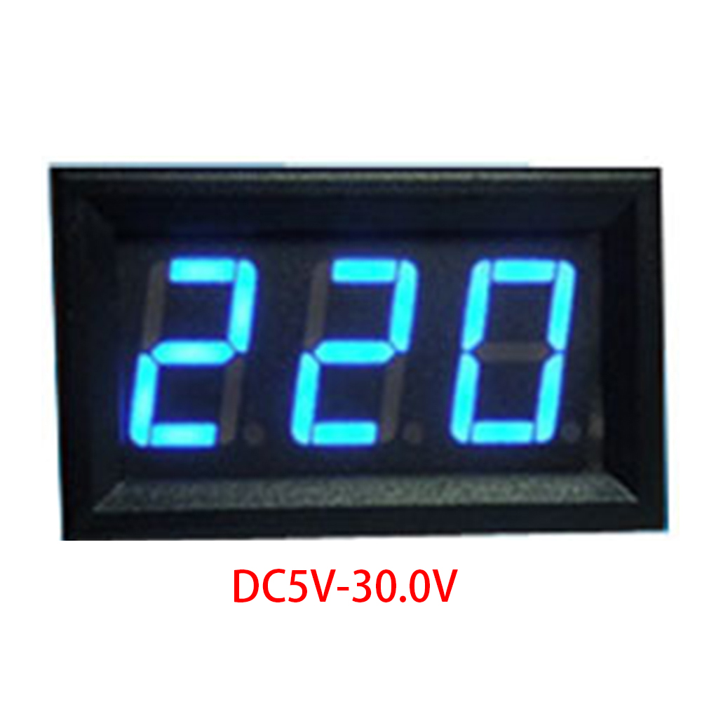Mini 2 Cables DC4.5V-30V Voltmeter 0.56in LED Digital Voltmeter With Reverse Connection Protection Mini DC VoltmeterMini 2 Cables DC4.5V-30V Voltmeter 0.56in LED Digital Voltmeter With Reverse Connection Protection Mini DC Voltmeter