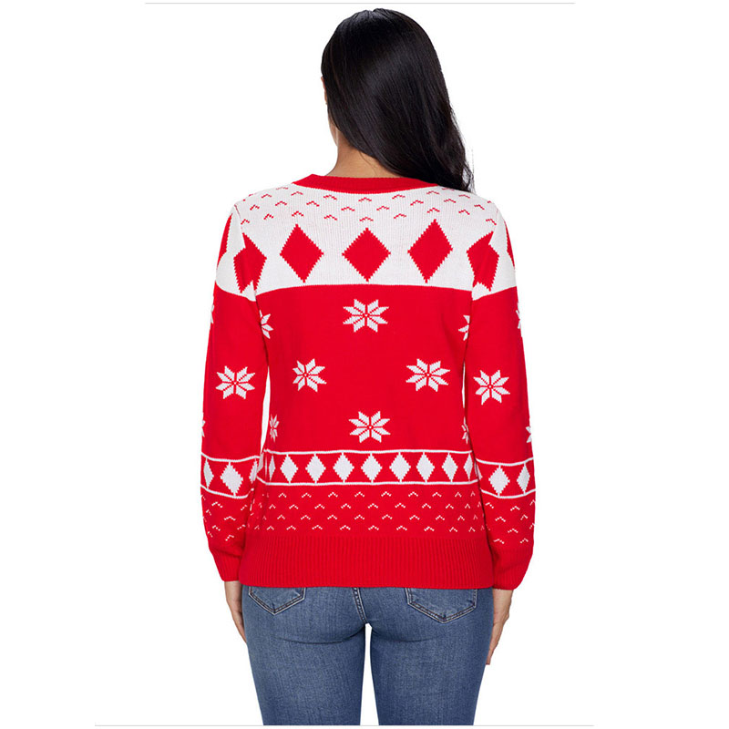 the Oversize Picture Stock Chandail Style Nouveau Rouge De As Vente Same The Halloween Picture Jumper 2019 Chaude Noël Pull En Tricot Wintersweater Hiver qa1xvXwRn