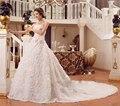plus size long trailing the bride 2017 bandage tube top wedding dress train Vestido de noiva sereia New 2017