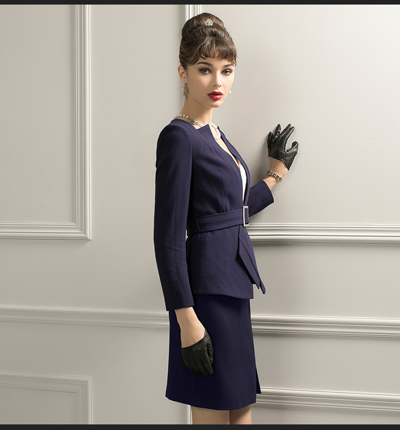 Skirt Suits Women Two Piece Sets Elegant Office Lady Formal Work Wear Elegant Fashion Designer Blazer Mini Skirt Uniform Outfits