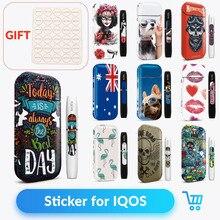 Стикер Volcanee, чехол для IQOS, Защитная Наклейка для кожи, наклейки для IQOS 2,4 Plus, электронная сигарета, коробка, мод, стикер, Vape Чехол