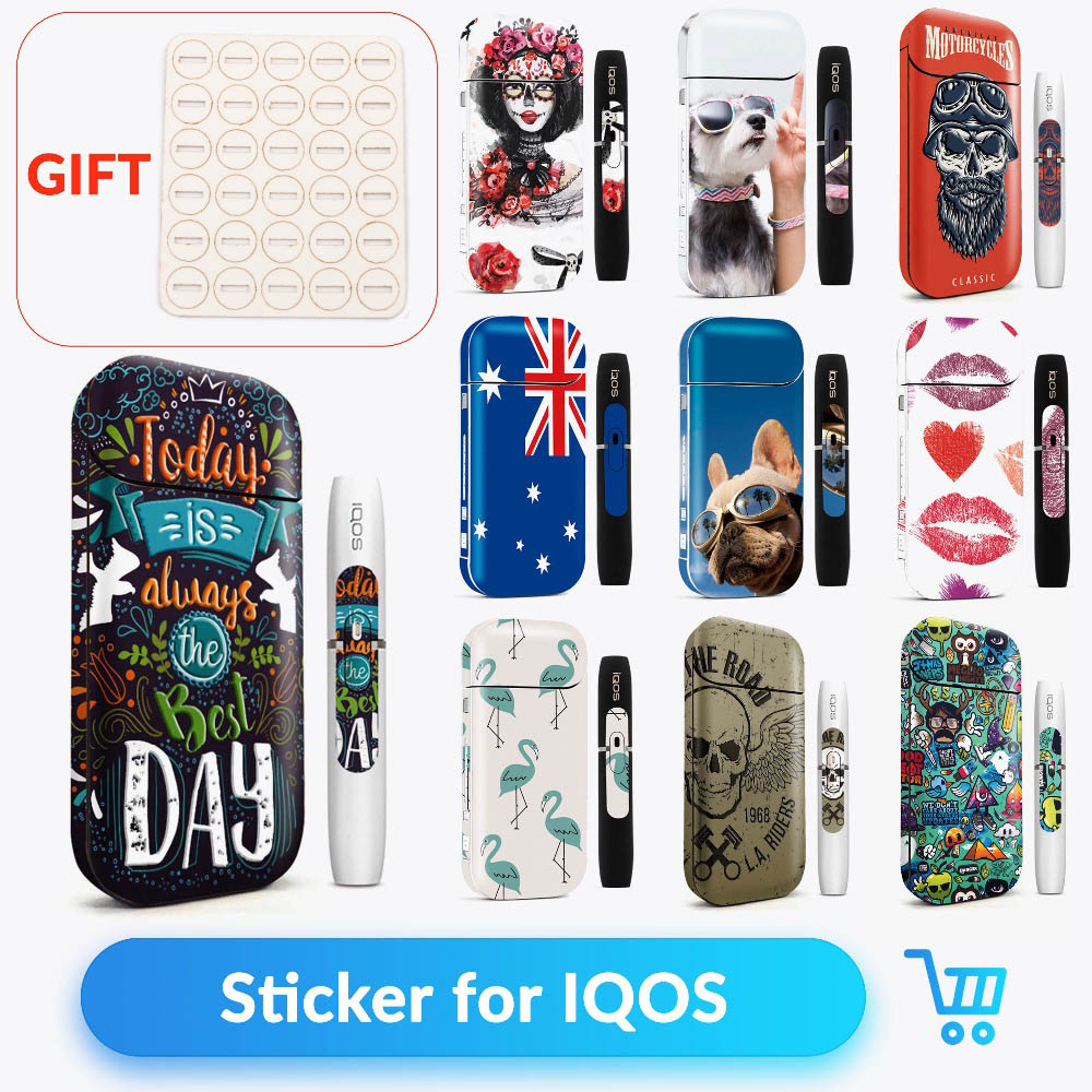 Volcanee Sticker Case For IQOS Cover Sticker Skin Protection Stickers For IQOS 2.4 Plus E Cigarette Box Mod Sticker Vape Case