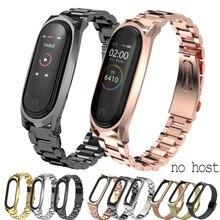 Pour Xiaomi Mi Band 4 Bracelet en métal sans vis en acier inoxydable pour Xiaomi Mi band 4 NFC Bracelet en métal Bracelet de remplacement pour Mi 4