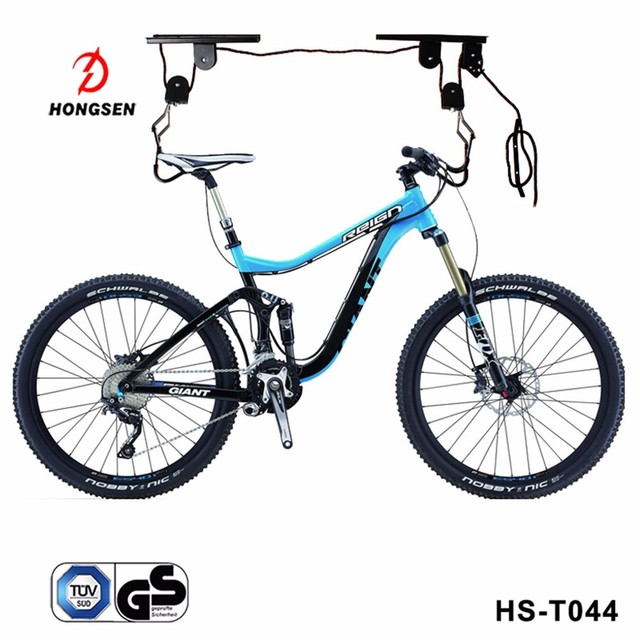 TERAYSUN  Bicycle Lift Ceiling Mounted Storage Garage Bike Hanger, Save Space Roof Ceiling Display Bike stang rack