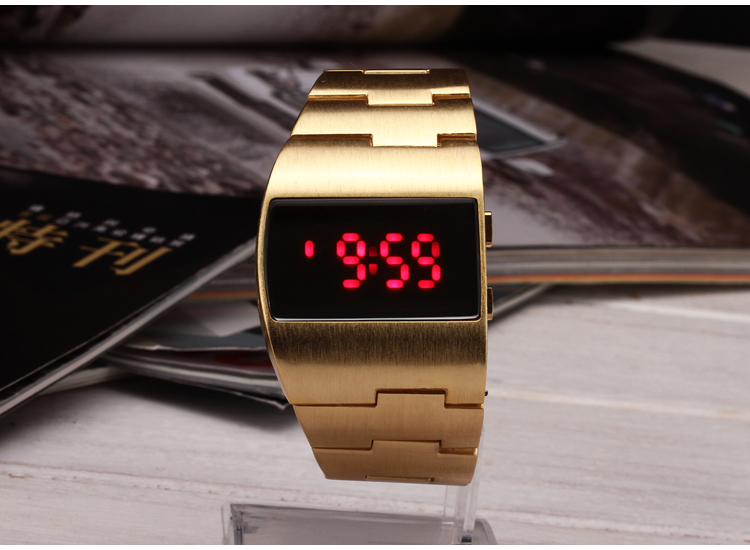 2015 Brand new military Fashion digital electronic Red and blue LED watches man wrist watch for men watch 1pcs splendid brand new boys girls students time clock electronic digital lcd wrist sport watch