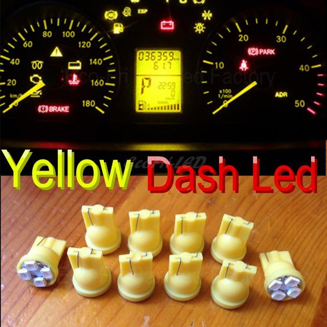 10x Yellow T10 W5w Led Dashboard Instrument Panel Lights Indicator For Toyota Chevrolet Subaru Ford Nissan Acura Infiniti