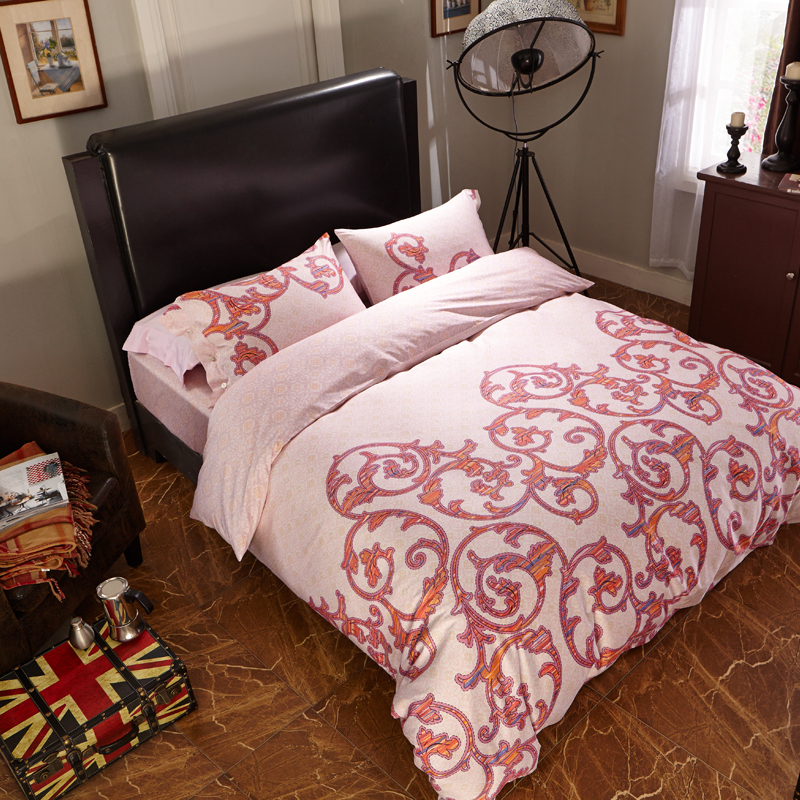red stripes 100 egyptian cotton bedding sets 4pcs1 quilt cover 1flat sheet - 100 Egyptian Cotton Sheets