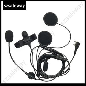 Image 2 - Helm Headset 2 Pin Ptt Helm Headset Headset Voor Oortelefoon Voor Ham Radio Voor Kenwood Voor Baofeng UV 5R BF 888S