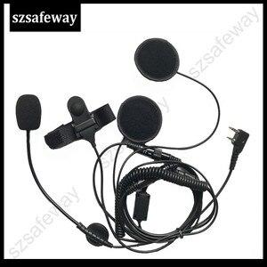 Image 2 - Kask kulaklık 2 Pin PTT kask kulaklık kulaklık için kulaklık için jambon radyo KENWOOD Baofeng UV 5R BF 888S