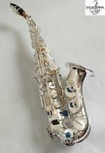 Бренды Янагисава S-901 сопрано изогнутые саксофоны серебрение латунь высокое качество Sax Professional мундштук