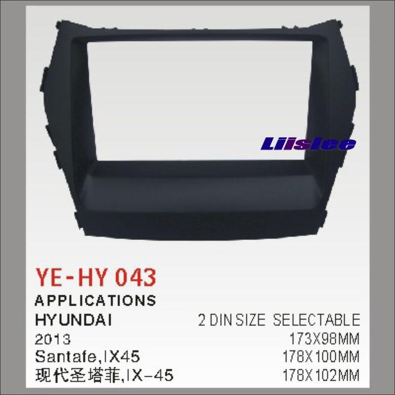Liislee Car Radio Frame Audio ABS Frame For Hyundai Santafe Ix45 2013 2 DIN CD DVD Panel Dash Board Kit / Refitting DVD GPS NAV автомобильный dvd плеер 1 dvd hyundai ix45 dvd gps 3g wifi bluetooth