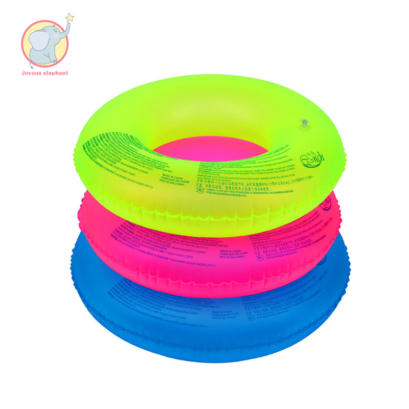 60-90cm Inflatable fluorescent blue red green swimming ring swimming circle  life preserver water children equipment for child circle
