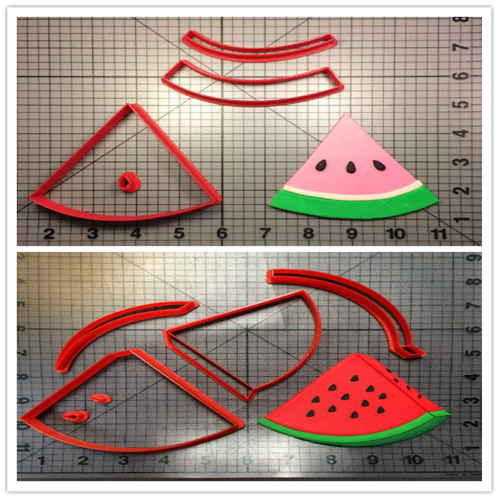 LUC Hot Sale Fruit Watermelon Cookie Cutter Set Custom Made 3D Printed Cake Decorating Tools Fondant Mold Baking Cake Mold Form