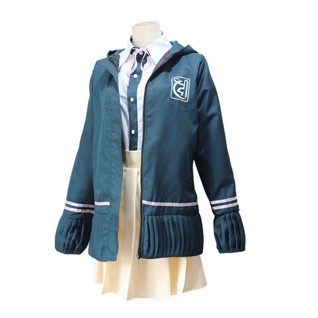 Nanami ChiaKi Cosplay Costume Danganronpa 2 école uniforme jupe Dangan Ronpa sac à dos perruque filles marin Costume robe de soirée