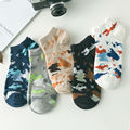 Camouflage personality Korean men's socks new spring and summer fashion cotton men Low cut shallow mouth  boat sock