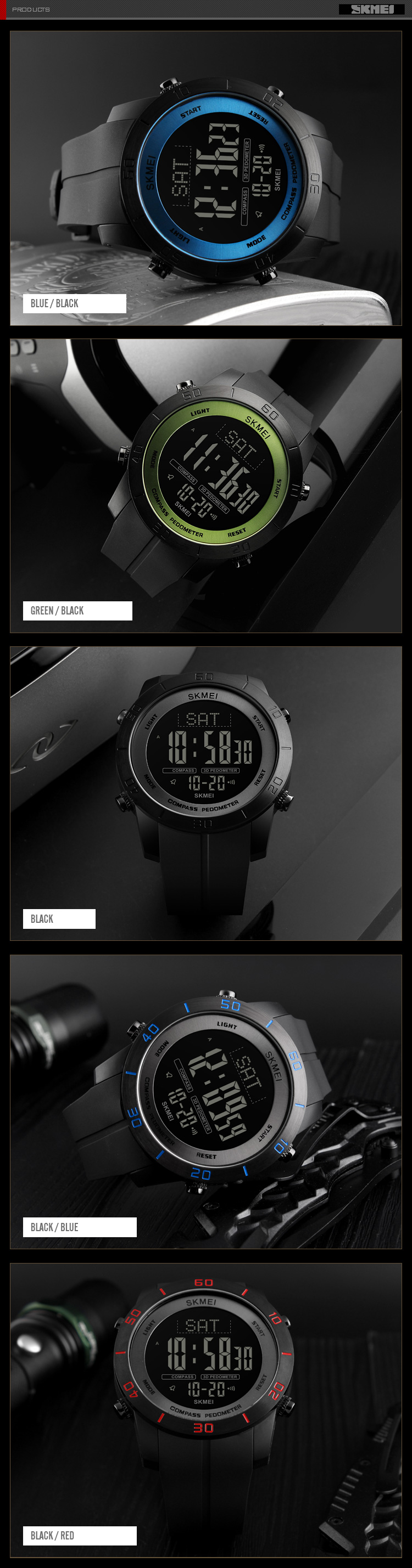 Watches Shop For Cheap Skmei Compass Chronograph Men Digital Sport Watch Altimeter Pressure Thermomet Weather Pedometer Calories Relogio Masculino Digital Watches