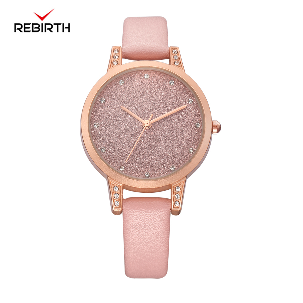 REBIRTH Montre Femme 2018 Ladies Watch Women's Watches Top Brand Luxury Leather Watches Women Clock Fashion relogio feminino ruimas fashion leather quartz watch top brand luxury women watches ladies clock relogio feminino montre femme lover wristwatches