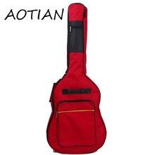 Aotian обновления Водонепроницаемый 5 мм утолщаются 40 41 guitarbag случае рюкзак цвет Guitarra бас аксессуары части Carry Gig ткань Оксфорд