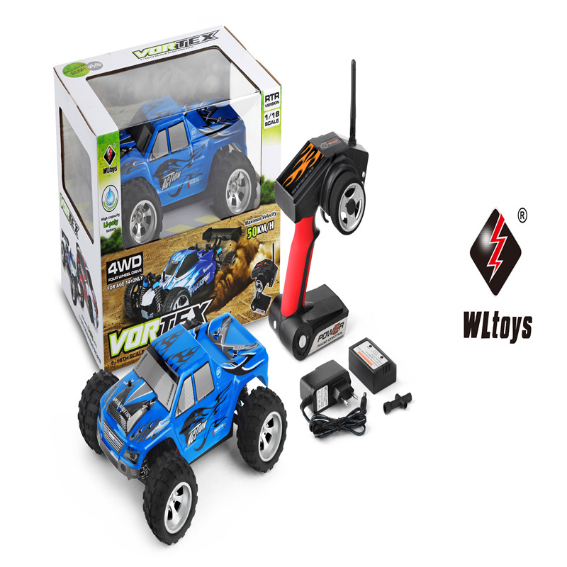 Two colors 2017 hot sales RC SUV WL toys A979 Black 2.4GHz 4WD 1/18 Monster Truck Off-Road RC Remote Control Toys