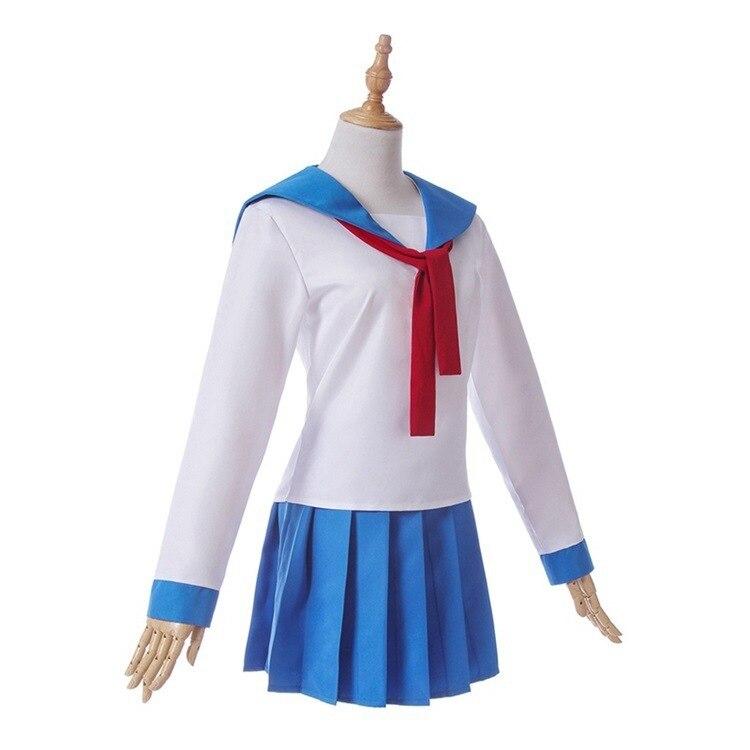 pop team epic Cosplay Costumes shirt skirt Poputepipikku popuko pipimi wig Woman School Uniform Anime party Japanese Sailor suit