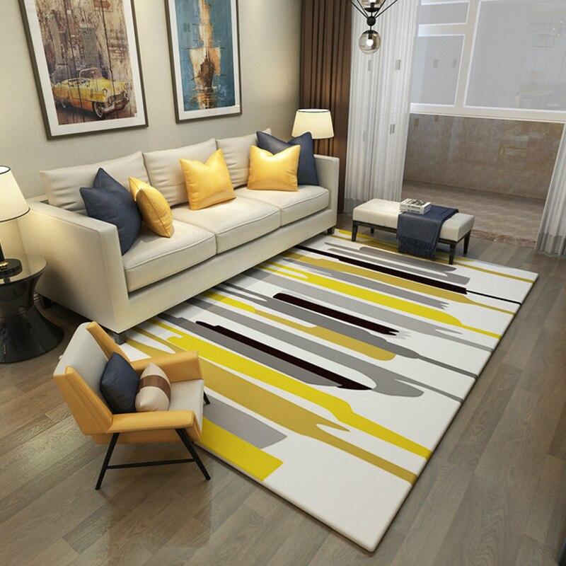 Tapis simples pour salon géométrique abstrait grand tapis antidérapant tapis enfants chambre décor à la maison chambre Rectangle tapis - 5