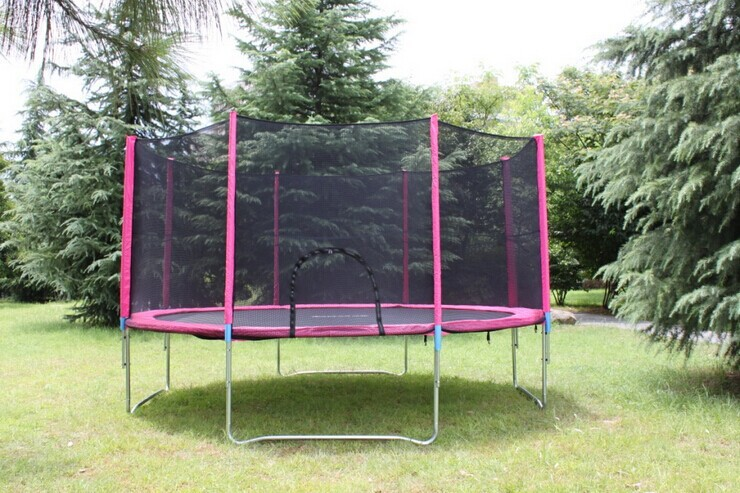 meters kid fitness toy trampolines equipment with belt security fence high quality foldable. Black Bedroom Furniture Sets. Home Design Ideas