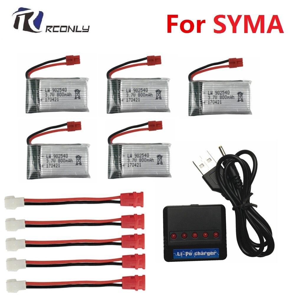 3.7 v 800 mah 25c bateria para syma x5 x5c x5s x5sw x5hw x5hc x5uc x5uw para rc zangão quadcopter peças de reposição bettery 3.7 v 902540 #4