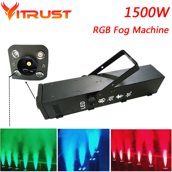 1500W RGB LED party fog machine professional smoke fog machine halloween smoke maker machine cold smokers for sale AC110 240V