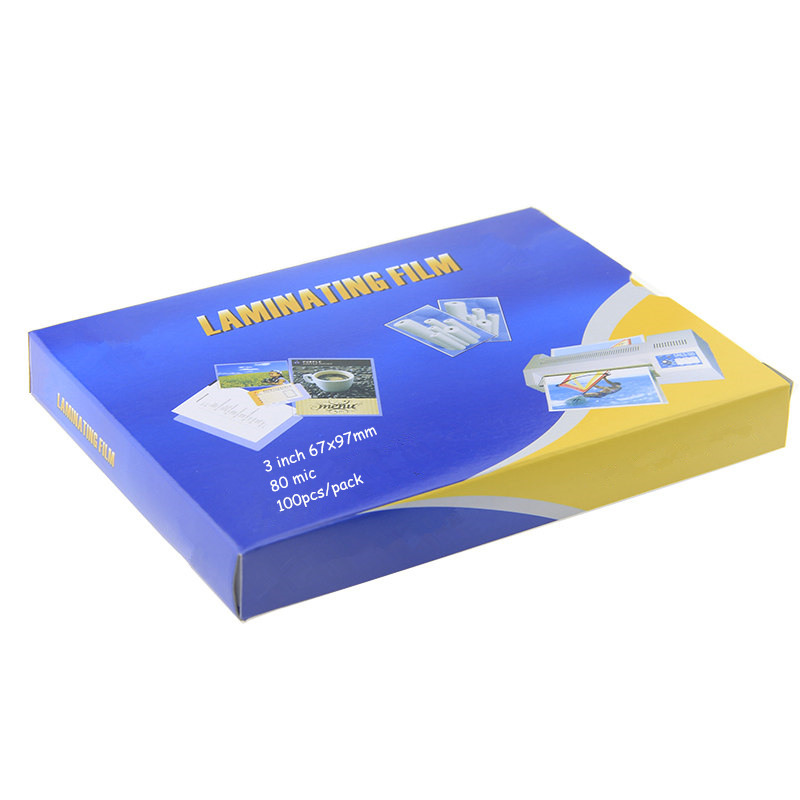 """80mic 3"""" Laminating Film 97mmx67mm Clear Sheets EVA Bond For Photo Paper Laminating Sheets Photo Files Card Picture 100 Pcs/pack"""
