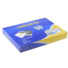 """80mic """" ламинирующей пленки 97 мм x 67 мм прозрачный пены Ева связка для Фотобумага для припрессовки пленки листы фото файлы карты фото и видео 100 шт./упак"""