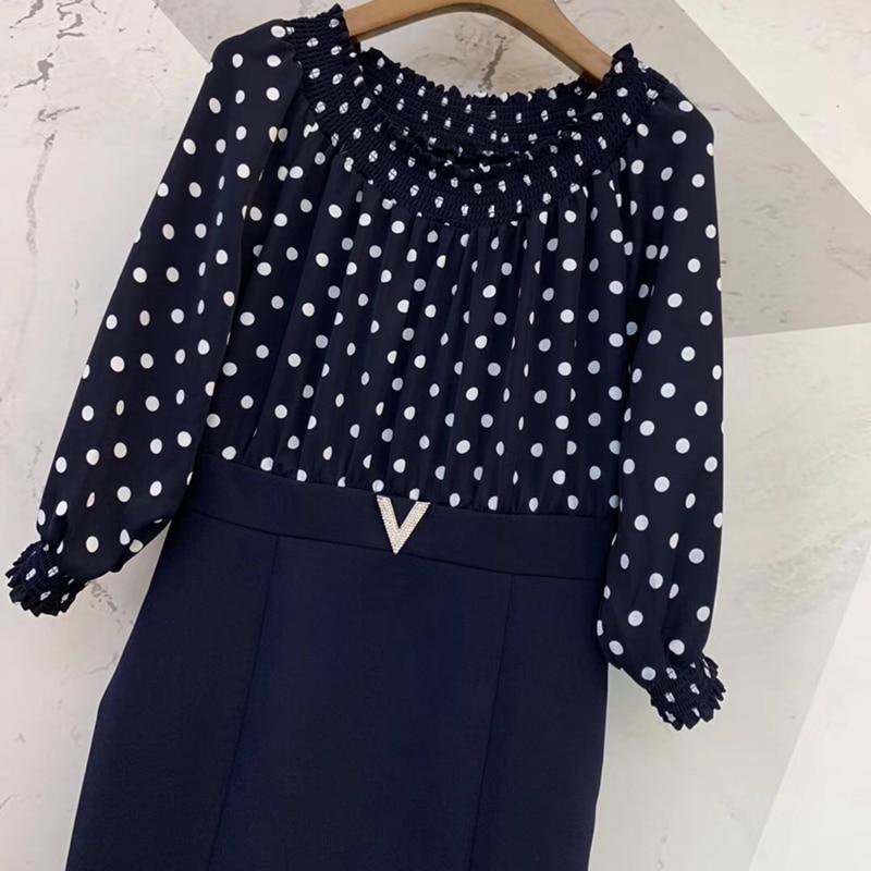 Printemps Taille Pour Élégant Genou Haute Robes Longueur Lady Robe Les Femmes Dames Office 2019 vw6Rqg