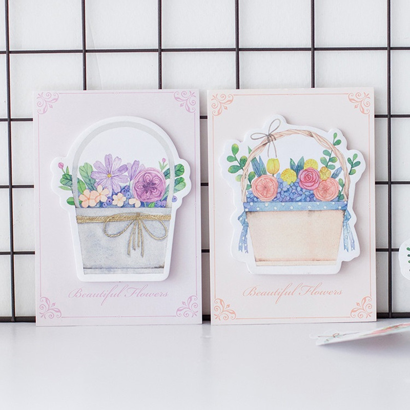 4 pcs/Lot Beautiful flower sticky note Post memo pad stickers for planner diary journal Office materia School supplies FM668