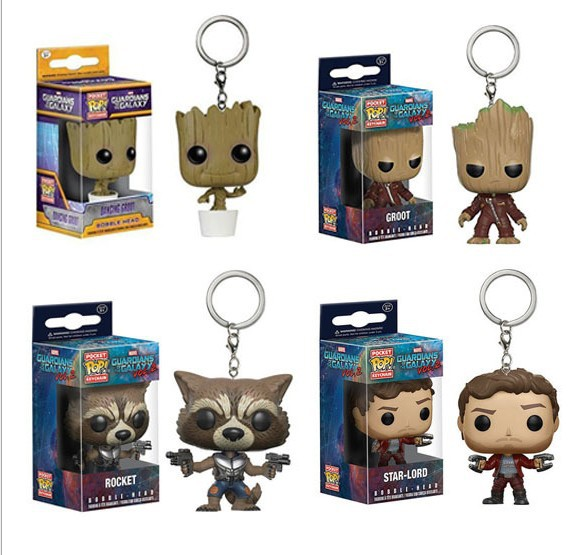 Groot Funko Pop Keychain Toy Guardians Of the Galaxy Dancing Groot Figma Bobble Head Juguetes Toy,Harley Quinn,harry potter new funko pop guardians of the galaxy tree people groot