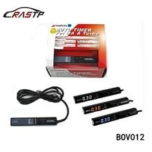 RASTP Универсальный Apexi турботаймеры оригинальный Цвет коробка для NA & Turbo Управление светодиодный цифровой Дисплей красный белого и синего цвета свет RS-BOV012