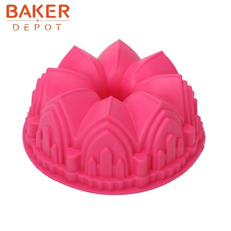 DIY silikon velký dort formy kreslený květ DIY pečení moLd SCM-003-4