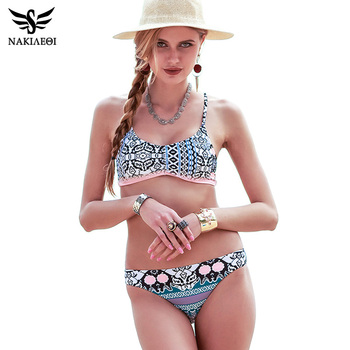 NAKIAEOI 2018 Sexy Bikinis Women Swimsuit Push Up Swimwear Female Brazilian Bikini set Bandeau Summer Beach Bathing Suit Biquini