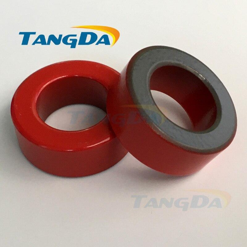 T175 Iron powder cores T175-2 OD*ID*HT 45*27*17 mm 15nH/N2 10uo Iron dust core Ferrite Toroid Core Coating Red gray A. transformers ferrite toroid cores green 74mm x 39mm x 13mm