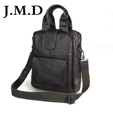 J M D 2017 New Arrival 100 Genuine Leather Messenger Bag Genuine Leather Men Double Handle