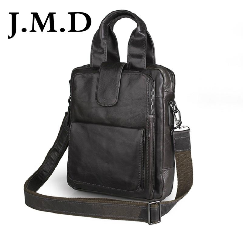 J M D 2017 New Arrival 100 Genuine font b Leather b font Messenger Bag Genuine