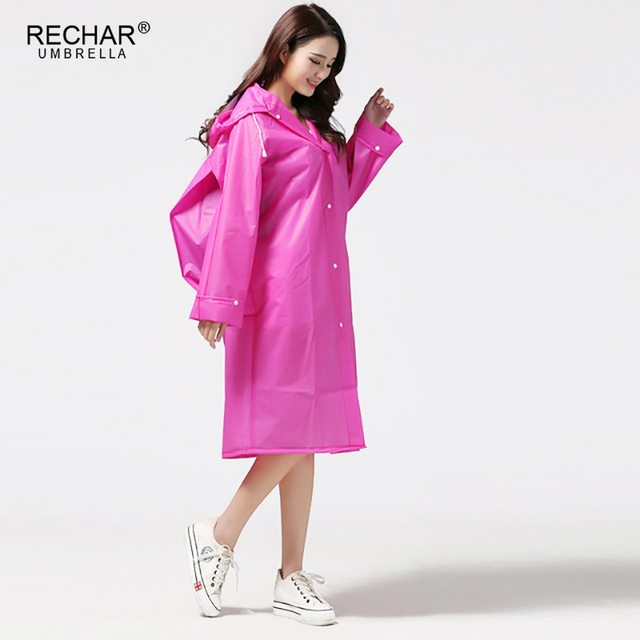 New Women s Raincoat Fashion Transparent PVC With Hats For Outdoor Female  Rain Coats Rainwears For Hiking Tour With Bag raincoat a9a2ab156