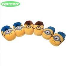 Factory direct sales of small yellow people film surrounding the original series of home slippers plush cartoon package with