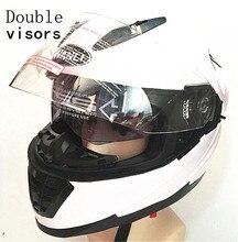 Branco capacete da motocicleta capacetes integrais driving Ciclismo motocross casco do capacete capacete casque capacete Personalidade