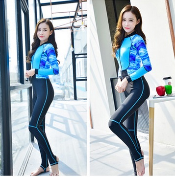 Women Nylon Zipper Swimsuit Full Body Jumpsuits Diving suit Rash Guard Wetsuits for Quick-dry Swimming Surfing Sports Clothing